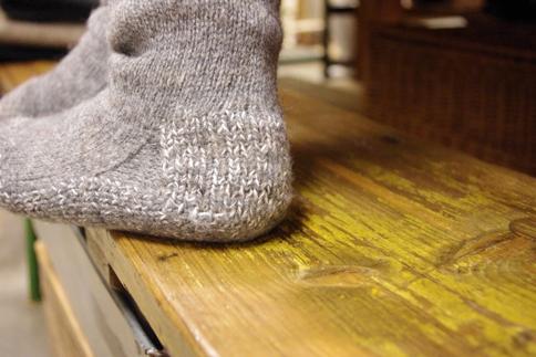 プエンテ 靴下 靴なし かかと
