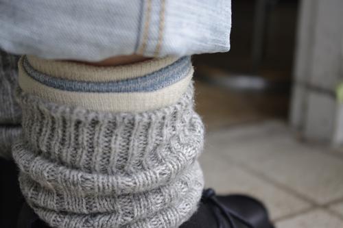 スラックソックス 絹綿セット 履き方