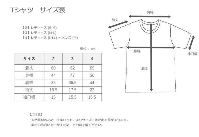 KINOTTO_Tシャツ サイズ表