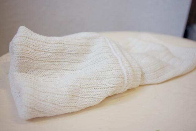 レッグウォーマー絹紡糸5