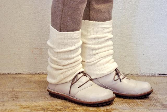 レッグウォーマー絹紡糸1