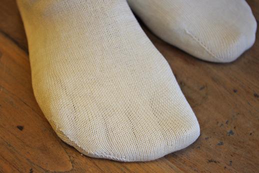 絹綿5本指パイル靴下