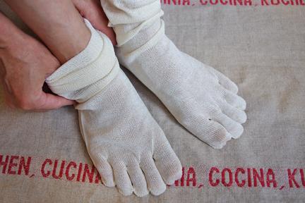 絹5本指靴下