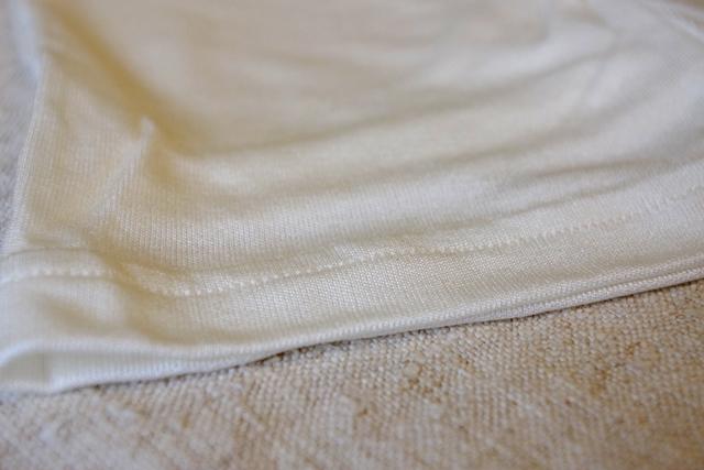 正活絹レギンス5 裾