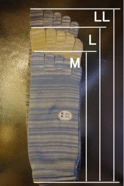 冷えとり靴下絹綿5本指